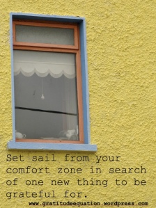 Set Sail from your COMFORT ZONE
